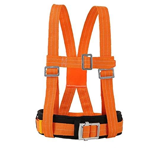 Tuimiyisou Arnés de Escalada Kits Ajustable del Consejo de Medio cinturón de Seguridad del arnés de detención de caídas de montañismo de Orange