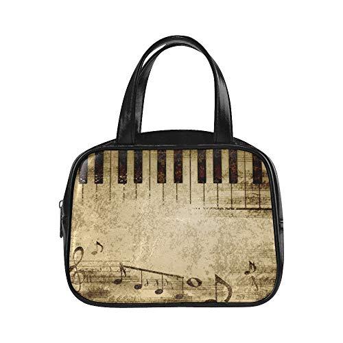 Womans Fashion Bags Musiknoten auf alten Papierbogen Mode-Taschen für Frauen Frauen Taschen Mode Pu-Leder Top Griff Satchel Womans Carryon Bag
