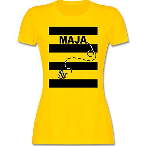 Karneval & Fasching - Bienen Kostüm Maja - L - Gelb - L191 - Damen Tshirt und Frauen T-Shirt