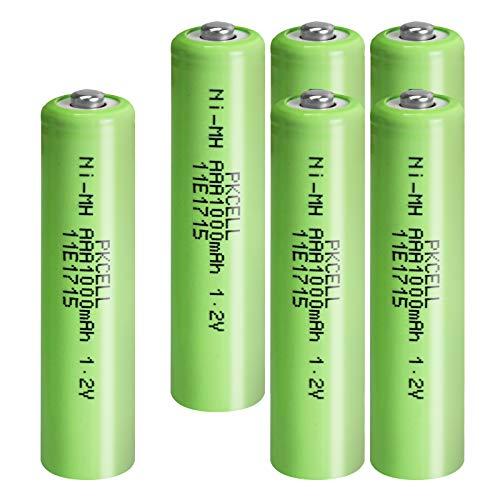 1,2 V NIMH AAA 1000 wiederaufladbare Batterien Industry Button Top Batterien für Eletronic Spielzeug, 6 Packungen