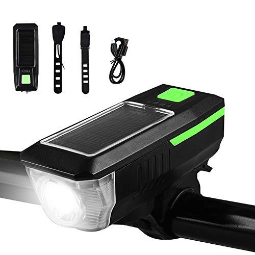 SAHWIN Luz Bicicleta Led Alta Potencia 1500Mah, Luces Bicicleta Recargable USB Delantera con Pantalla Led, Luz Bici De Montaña 3 Modes