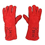 1 x <span class='highlight'>Welding</span> Gloves Long Leather Gaunlets Heat Resistant Lined <span class='highlight'>MIG</span> <span class='highlight'>ARC</span> Welders