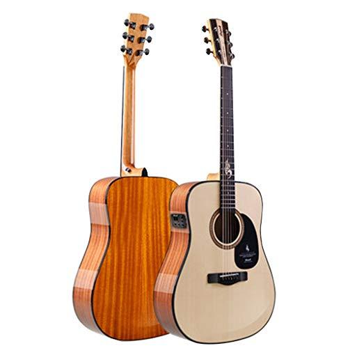Musikinstrumente Gitarre Single-Board-Gitarre Blues-S25N-DQG E-Bass Gedenk-Flaggschiff Furnier Für Männer Und Frauen Anfänger Ballade Box Gitarre 41 Zoll Bakelit Dual-Use-Modelle Gitarren