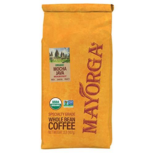Mayorga Organics Mocha Java, 2lb Bag, Medium Roast Whole Bean Coffee, Specialty-Grade, USDA Organic, Non-GMO Verified, Direct Trade, Kosher