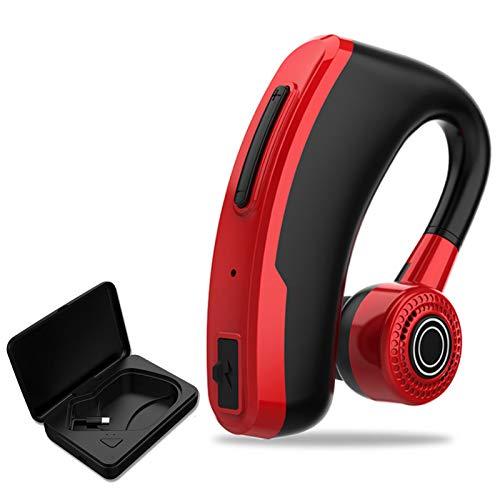 Wsaman Auriculares Bluetooth Intrauditivos,Deportivos Auriculares,con Estuche de Carga Inalámbricos Sonido Estéreo Cancelación de Ruido para Deportes, Oficina en Casa Trabajo,Red+Charging Box