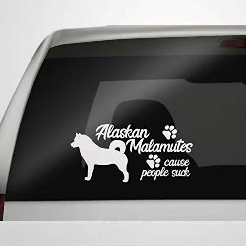 Alaskan Malamute Auto Pegatina de vinilo para coche, decoración para ventana, parachoques,...