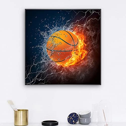 Pintura en lienzo Bola abstracta Baloncesto acuático Carteles e impresiones Imágenes artísticas de pared para la sala de estar Decoración del hogar Cuadros-70x70cm Sin marco
