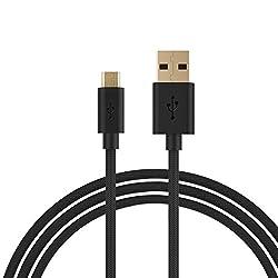 Câble Micro USB - Turata Chargeur Câble USB Micro USB Tresse 6ft/6pieds Câble Chargeur pour Samsung Galaxy, Sony, HTC, Nexus, LG, Motorola, Kindle, Asus et Autres appareils Android
