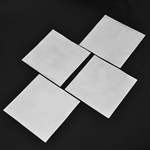 FMingNian 5Pcs High Purity Zink-Platte 99,9{b48c15bd9ce7b4f89b672af06ff84a106d7fd016f3f5088d17f35928c8e3f556} reinen Zink-Blatt-Platte for Science Lab DIY Physikalisches Experiment Use140x140x0.2mm
