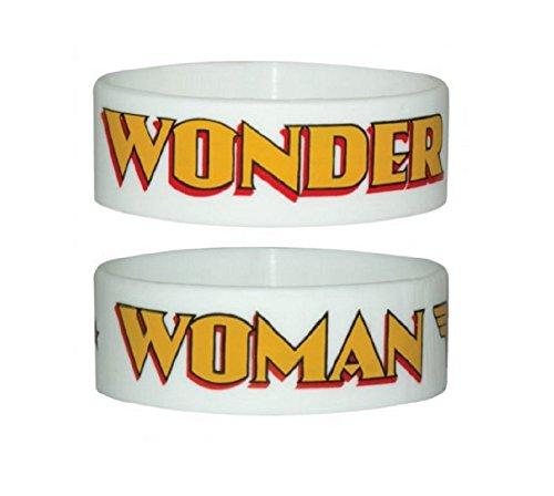 Wonder Woman Pulsera Logo Blanco nuevo Oficial DC Comics rubber