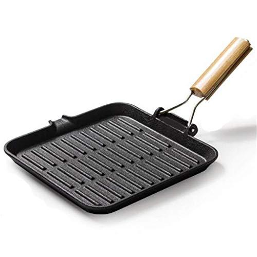 ZXL Frying Pan, Gietijzer Anti-stick Pan Multifunctionele Opvouwbare Gaskachels Inductie Cooker Algemeen Doel Handige Opslag
