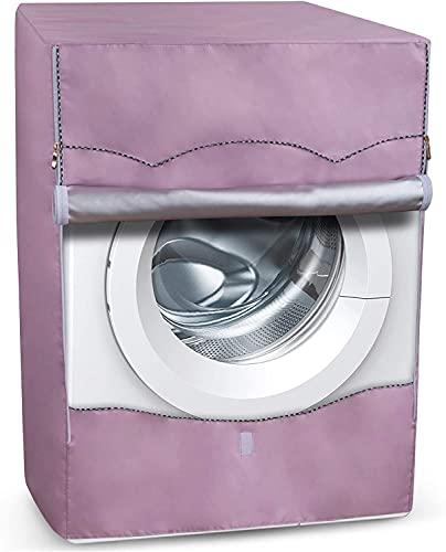 Supreme Covers - Cubierta para lavadora portátil plateada para máquinas de carga frontal, poliéster Oxford duradero, fundas para lavadora y secadora (rosa, pequeña, 52,8 x 59,9...