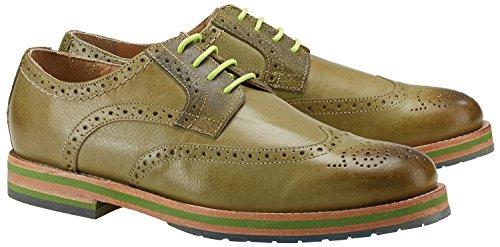 Wellensteyn Schuhe Patterson Vintage poliertes Leder (41, grün)