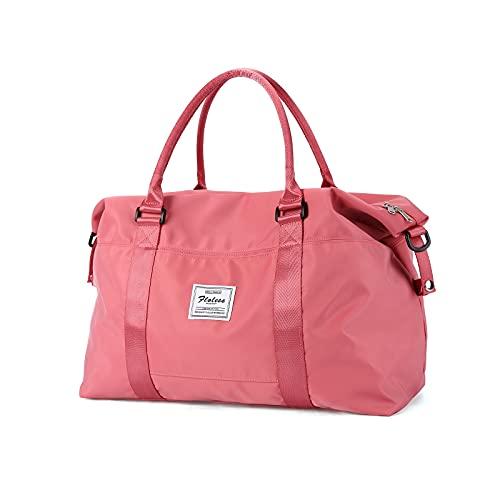 Bolsa de viaje de viaje,Bolsa de gimnasio deportiva,Bolsa de hombro Weekender para mujer, E-red-small, S,