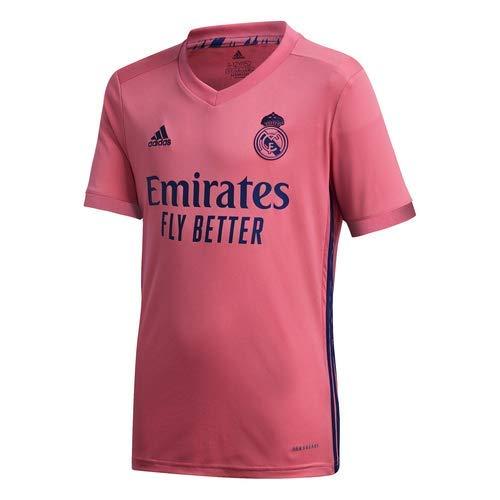 Adidas Real Madrid Temporada 2020/21 Camiseta Segunda Equipación Oficial, Niño, Rosa, 7/8 años