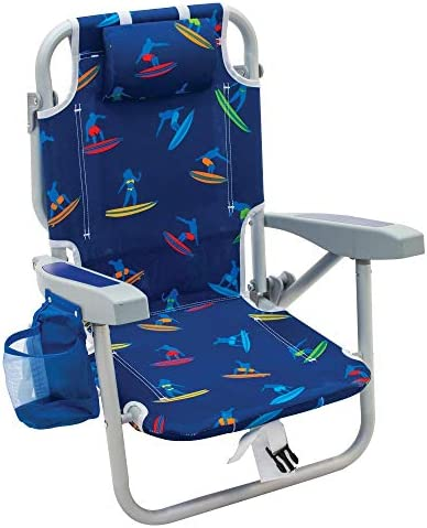 Rio Gear Beach Kid s 5 Position Lay Flat Backpack Folding Beach Chair Surf Power Surfer 7 product image