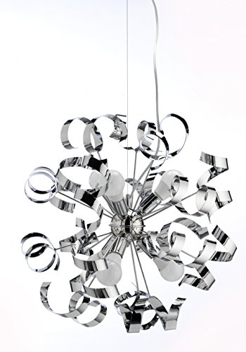 ONLI Hängelampe Kronleuchter Zoe Serie Design Made in Italy chrome