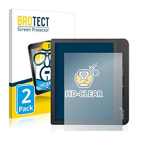 BROTECT Schutzfolie kompatibel mit Tolino Vision 5 (2 Stück) klare Displayschutz-Folie