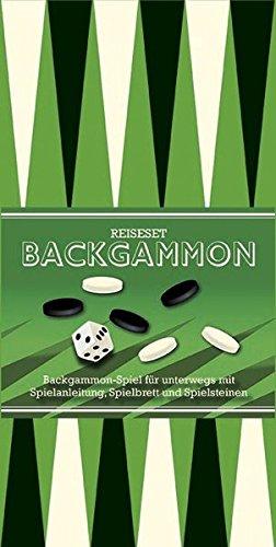 Backgammon: Backgammon-Spiel für unterwegs mit Spielanleitung, Spielbrett und Spielsteinen