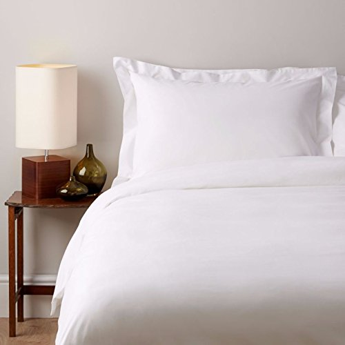 SOAK AND SLEEP Classic Egyptian 200TC Cotton - King Fitted Sheet (40cm) - White