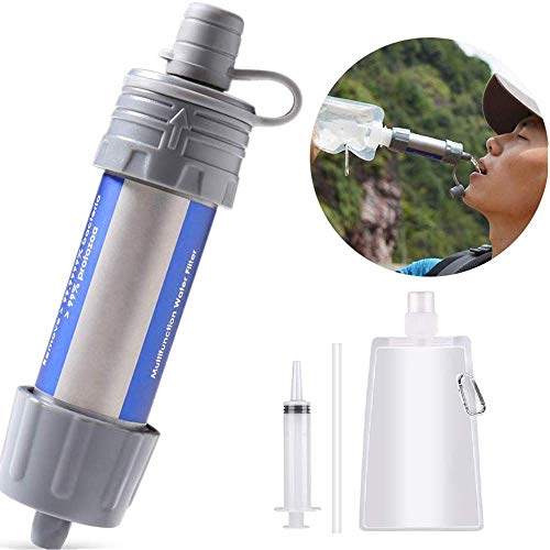 Lixada WasserFilter Stroh Wasser Filtrationssystem Wasserreiniger zum Notfallvorsorge Camping Reisen