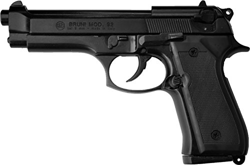 Pistola a Salve BRUNI Beretta 92 Cal.8 Full Automatic | Top Firing | Nera
