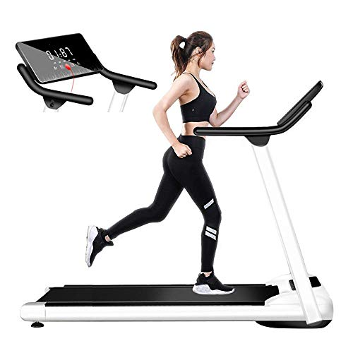 SUYING Cinta de Correr Profesional, Plegable y compacta máquina caminadora, fácil de Mover y Tienda, Apto for Fitness en casa, Tranquilo y Confortable DYWFN