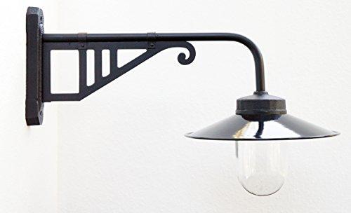 Außenleuchte nach historischem Modell Gartenlampe Hoflampe Außenlampe Landhausstil Modell Salzberg schwarz