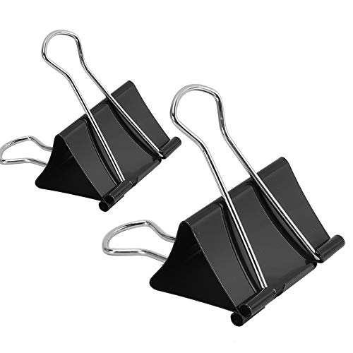 48 Pcs Extra Large and Large Binder Clips, 2 Inch Width (24 Pcs) and 1.6 Inch Width (24 Pcs)