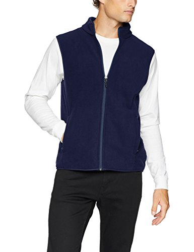Amazon Essentials Men's Full-Zip Polar Fleece Vest, Navy, X-Small