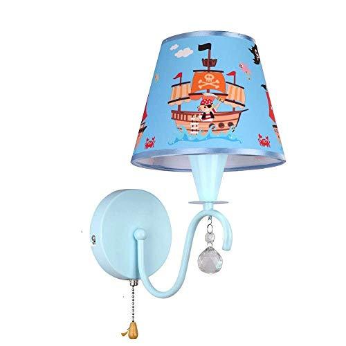 Wandlampenschlafzimmerbettwandlampenstudienhotelwohnzimmer-Bekleidungsgeschäftkorridor-Caféblau der Gartenkinder