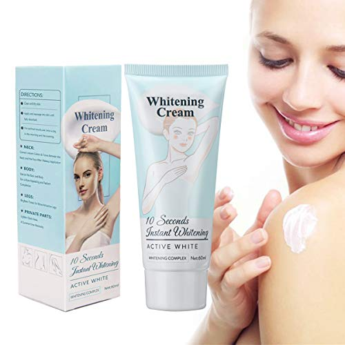 CHARMINER Skin Lightening Cream, Bleaching Cream for Armpit, Knees, Elbows Brightens Nourishes Skins Blue