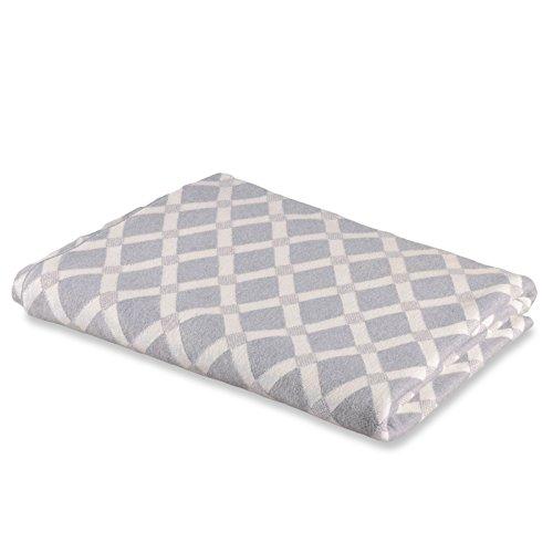 casa pura Wohndecke Mossy mit Rauten Muster | schadstoffgeprüft | kuschelige Decke aus Baumwolle | Größe wählbar (150x200 cm) Baumwolldecke - Kuscheldecke