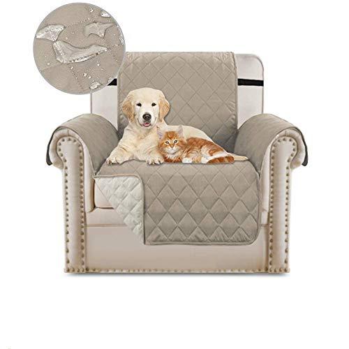 BANNAB Funda Antideslizante para sofá, Protector de Muebles Acolchado Reversible, Protector de sofá para Mascotas Resistente al Agua, Funda para sofá, Fundas para sofá de 3 Cojines