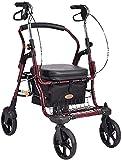 Rollator Walker Mobility Walking Aid para adultos Ancianos de la compra de ancianos, caminante anciano con cuatro ruedas con una silla de ruedas plegable liviana (Color : Default)
