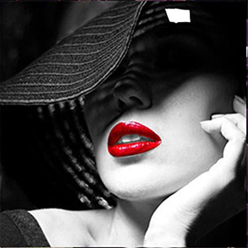 5D DIY Pintura de Diamante de Kits Mujer sexy Completo Crystal Rhinestone Sniño de Punto de Cruz Embroidery Diamond Art Decoración de la Pared del Hogar Diamond Painting Regalo Square Drill 60x60cm
