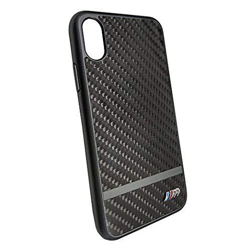 Preisvergleich Produktbild BMW BMHCPXASCFBK Hard Cover Satin Aluminium Stripes M Collection für iPhone X Gun-Metal