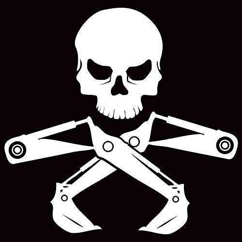 DecalDestination Construction Heavy Equipment Skull Decal Truck Decal Window Vinyl Car Decal White Large 10