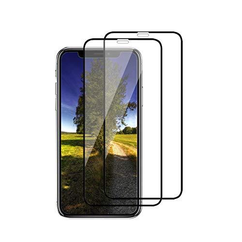 2 Stück - Kompatibel mit iPhone 12 Pro Panzerglas Schutzfolie iPhone 12 Pro Max 3D Tempered Glas Schutzglas HD Panzerfolie Anti-Kratzen Anti-Öl Displayschutzfolie (schwarz 1, iPhone 12 Pro)