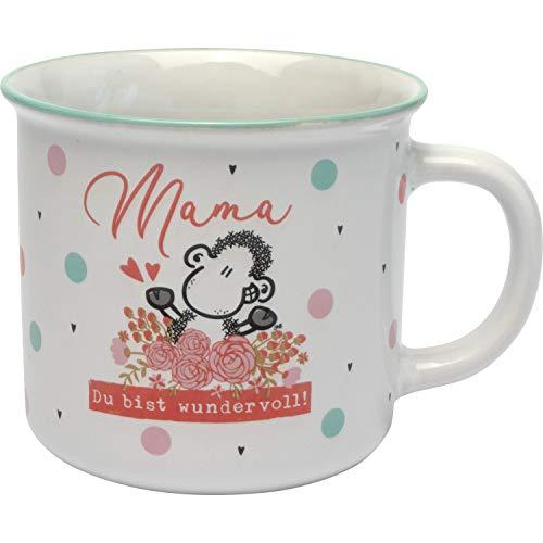 Sheepworld AG Sheepworld 46856 Kaffeetasse Mama mit Blumen, Steinzeug, in Geschenk-Box Tasse, Steingut