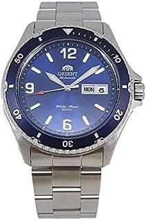ساعة اورينت اوتوماتيكية رياضية بمينا بلون ازرق وسوار من الستانلس ستيل طراز SAA02002D3