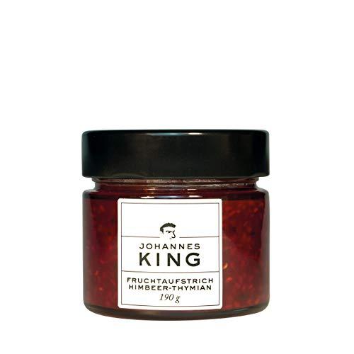 Kings hausgemachter Aufstrich Himbeer-Thymian, köstlicher Himbeer-Thymian-Fruchtaufstrich ohne Stücke, Aufstrich ohne Kerne, feinster Himbeer-Geschmack
