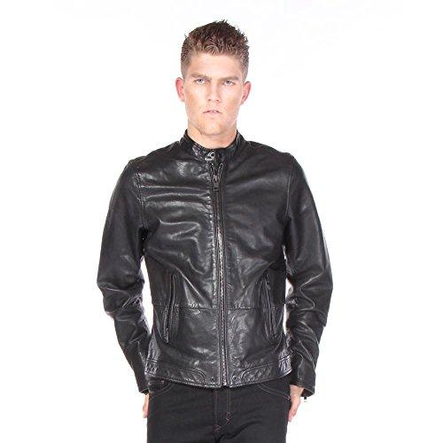 Diesel L-Thermal Negro Leather Jacket 900