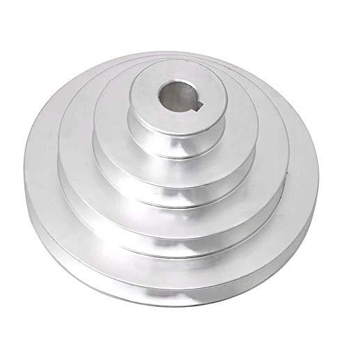 YJZZ 41 mm a 130 mm Diámetro Externo de 16 mm Diámetro de Aluminio A Tipo 4 Paso Pagoda Rueda de polea for Correa en V Correa Dentada