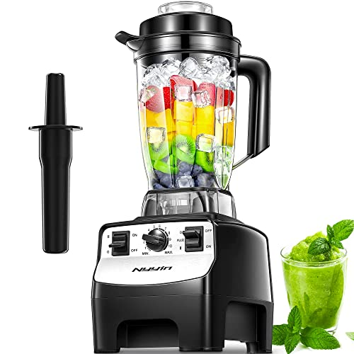 Blender Smoothie Maker, 2000W Professional Countertop Blender with 10 Speed...
