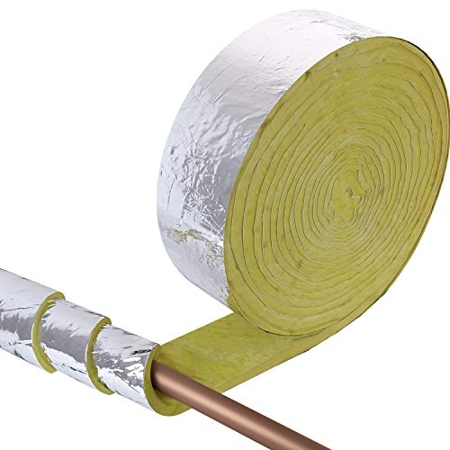 Home Intuition 25 foot Foiled Fiberglass Pipe Insulation Wrap, 3