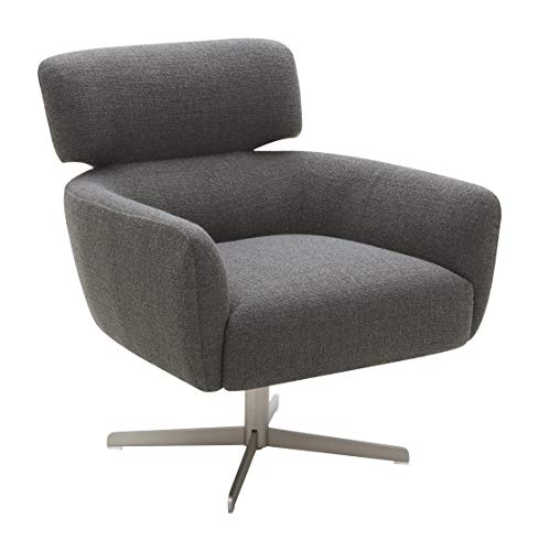 Amazon Brand – Rivet Adrienne Swivel-Base Contemporary Living Room Chair, 29'W, Flannel-Colored Fabric