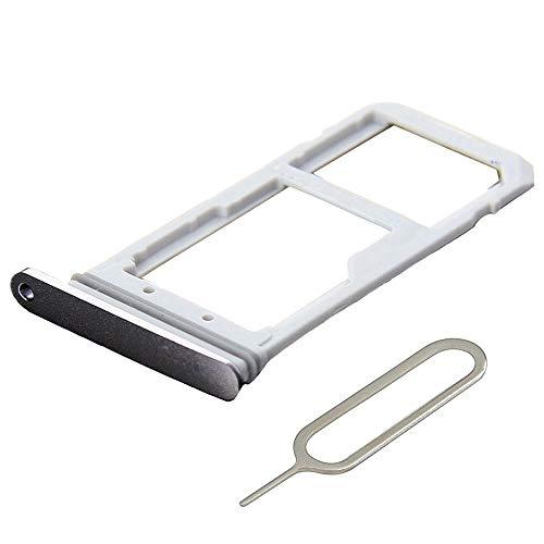 MMOBIEL SIM/SD Karte Schlitten Tray kompatibel mit Samsung Galaxy S7 G930-5.1 Inch (Schwarz) inkl. SIM Pin