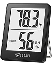 DOQAUS Digital Hygrometer Indoor Thermometer, Humidity Meters, Room Thermometer and Humidity Gauge with Accurate Temperature Humidity Monitor Meter for Home, Office, Greenhouse, Mini Hygrometer