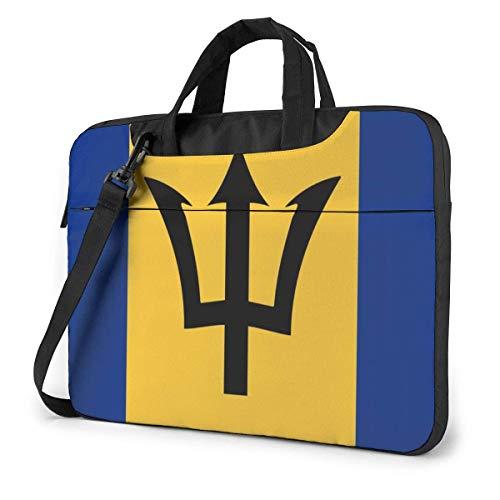 Bolsa de Mensajero para computadora portátil Bandera de Barbado-s Funda de maletín a Prueba de Golpes Bolsa de Hombro para computadora portátil con Correa